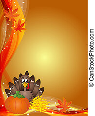 thanksgiving - illustration for thanksgiving with turkey and...