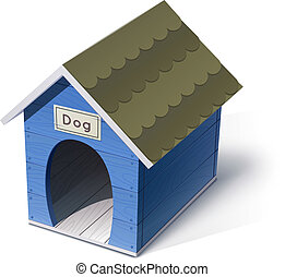 dog house vector illustration isolated on white background...