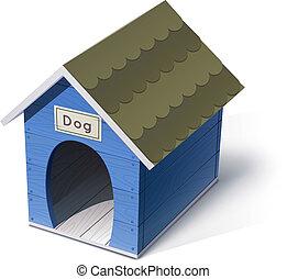dog house vector illustration isolated on white background...
