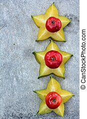star fruit and cherry