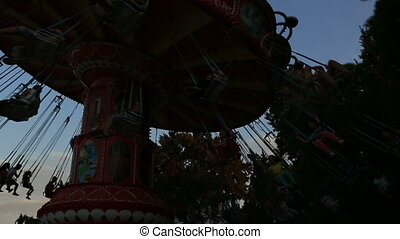 swing at amusement park