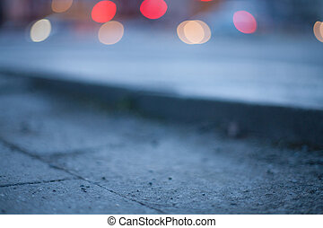 Blurred background - night street with street lights, great...