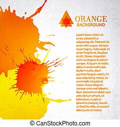 Orange background with splashes
