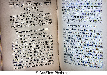 Hebrew and German holy book - German and Hebrew Prayerbook