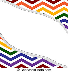 LGBT Colored Torn Background for your message or invitation...