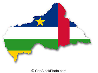 Map flag Central African Republic