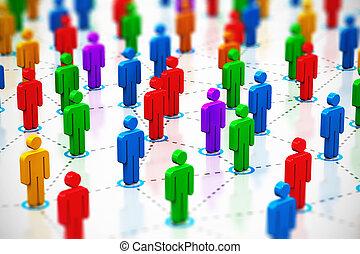 Social network concept - Creative abstract social...
