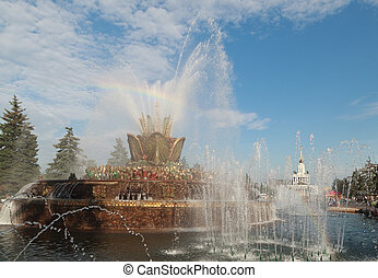 Fountain Stone flower VDNH Moscow