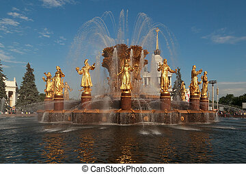 Fountain Friendship of Nations at VDNH in Moscow