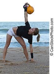 condicão física, modelo, ginásio,...