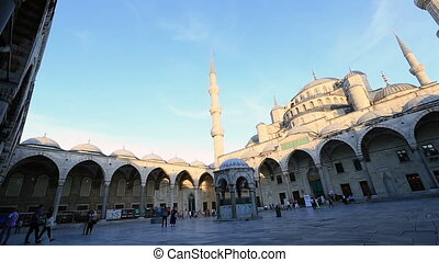 Blue Mosque at the istanbul Turkey (pan)