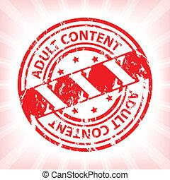Grunge xxx stamp with bursting background - Grunge xxx stamp...