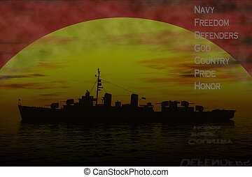 Navy meaning - Interpretation of older world war two navy...