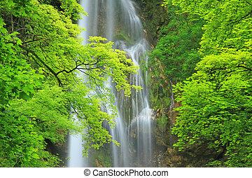 Waterfall of Bad Urach - The waterfall of Bad Urach, Swabian...