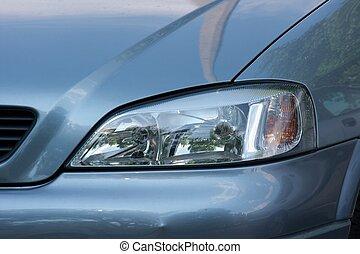 Headlights - Closeup of the headlights of a modern car
