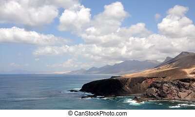 Fuerteventura coastline, Spain - Coastline of Canary Island...