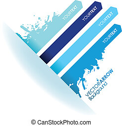 a splash blue line arrow line background