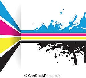 coloured splashed line