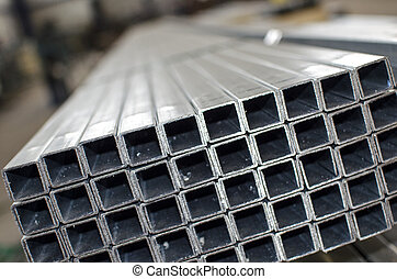 sheet metal profiles close up