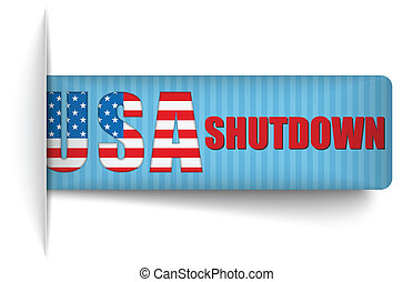 Government Shutdown USA Closed Banners. - Vector -...