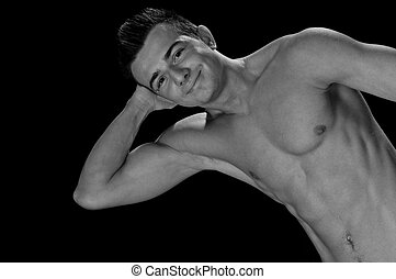 body-builder - the young body-builder portrait