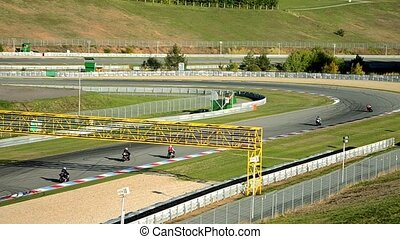 moto bikers racetrack