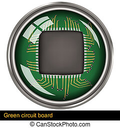 green circuit board - Illustration of a green circuit board...