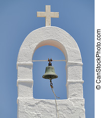 church steeple, Mykonos, Greece - church steeple, Mykonos...