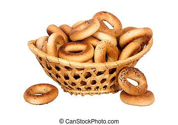 cesta, seco,  bread-ring