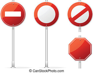 Vector Blank Traffic Sign red - Vector Blank Traffic Sign...