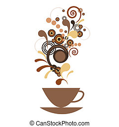 A cup of coffee with flavor - A cup of coffee with a flavor
