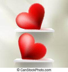 Valentine Hearts Red. St.Valentine's Day. EPS 10