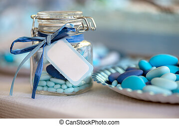 light blue candy birth - birth in light blue candy container...