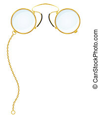 eyeglasses pince-nez vector illustration isolated on white...