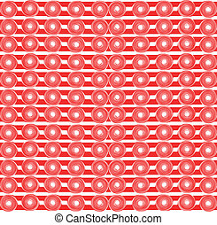 Red stripe pattern.