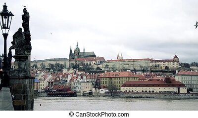 Prague view and Charles bridge