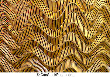 modern style pattern nature background of wave brown...