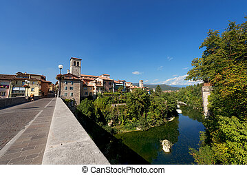 Cividale del Friuli - Italy - Devils bridge over Natisone...