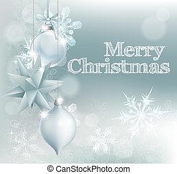 Christmas snowflake and decoration