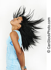 African hair fashion - Portrait of young african american...