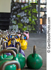 Rack of kettlebells - Kettlebells of various weights