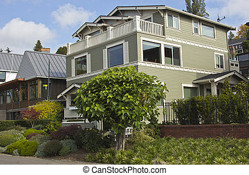 Residential homes in Seattle WA.