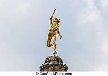 Mercury statue at Schlossplatz, Germany