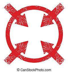 Grunge Vector Target - Red Grunge Vector Target On A White...