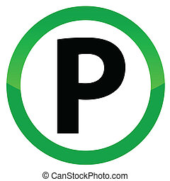 Isolated Parking Sign on a white background