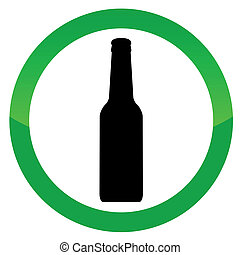 Alcohol vector sign on a white background