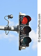 Traffic Light - Traffic light with camera for traffic...