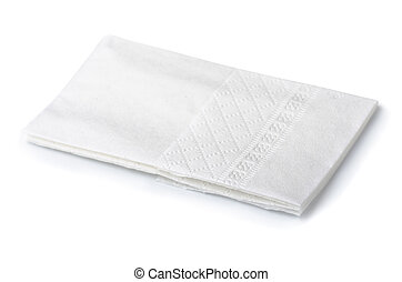 Handkerchief - Folded white paper handkerchief isolated on...