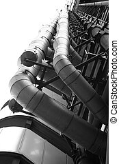 Industrial architecture of the Lloyds of London building in...