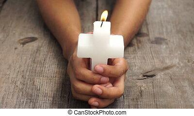 Crucifix candle